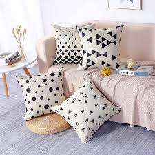 dekorative kissenbezüge 4er set 45 x 45 cm baumwolle leinen