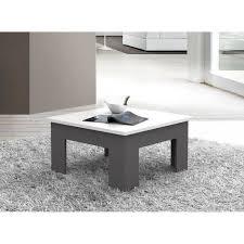 table de canapé finlandek table basse pilvi style contemporain blanc et gris foncé