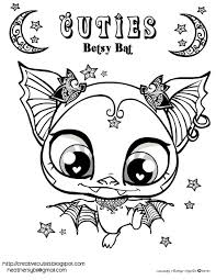 Betsy Bat Coloring Page Free Printable Halloween Holidays Diy Throughout Pages