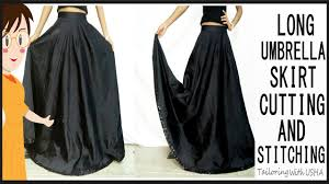 umbrella skirt cutting and stitching long umbrella skirt cutting