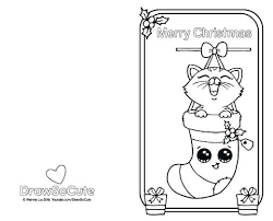 Christmas Kitten Coloring Pages O7257 Lovely