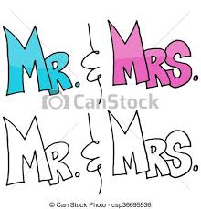 Mr And Mrs Message Vector