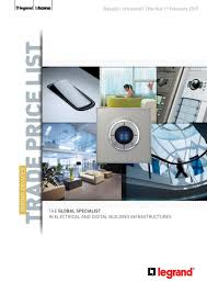 Legrand Floor Box Catalogue Pdf by Wiring Devices Trade Price List Roi 2015 By Legrand Electric