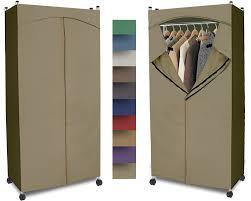 Amazon Portable Wardrobe Closet w Premium Cotton Canvas Duck