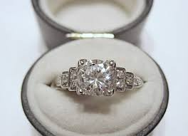 deco square rings best 25 1920s engagement ring ideas on deco ring