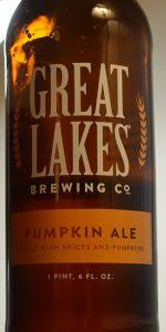 Schlafly Pumpkin Ale Release Date 2017 by Great Lakes Pumpkin Ale Great Lakes Brewing Co Beeradvocate