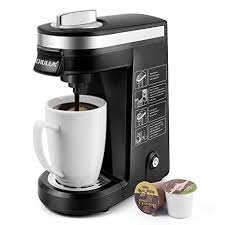 CHULUX Single Serve Coffee Maker Brewer For Cup Capsule With 12 Ounce ReservoirBlack