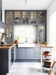 Gray Kitchen Cabinets Colors 70 Best Farmhouse Gray Kitchen Cabinets Ideas Decorapatio Com