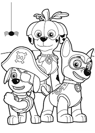 Paw Patrol Halloween Party Coloring Page From PAW Category Select 24104 Printable Crafts Of Cartoons Nature Animals Bible And Many More