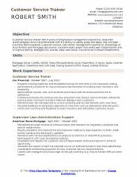 Customer Service Trainer Resume Template