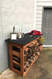 Fire Wood Storage Simple Rack Out The Pallets Outdoor Firewood