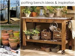 garden work bench with sink bench decoration