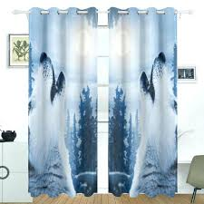 Walmart Curtains And Drapes Canada wolf window curtains wolf dream catcher birch curtains curtains