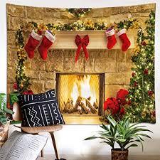 lb 150x100cm weihnachten wandteppich weihnachtskamin rote socken baum wandbehang tapisserie wohnzimmer schlafzimmer wohnheim dekor wandteppiche
