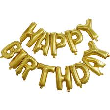 Gold Happy Birthday Balloon Bunting 15 M Hobbycraft