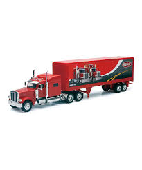 New-Ray Toys Red Peterbilt 389 Long-Haul Truck Toy | Zulily