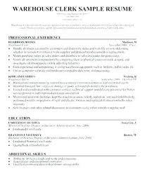Receiving Clerk Job Description Resume