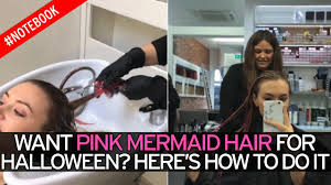 What Other Names Are There For Halloween by Easy Halloween Hair Tutorial How To Get Pink Mermaid Locks