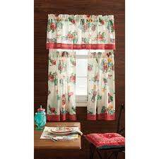 Living Room Curtains At Walmart by Pioneer Woman Kitchen Curtain And Valance 3pc Set Country Garden