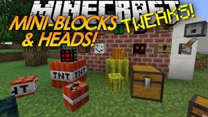 Minecraft Tweaks MINI BLOCKS Baby TNT MOB HEADS