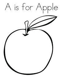 Fruits Coloring Pages For Preschoolers Apple Preschool A Fruit Basket Printable