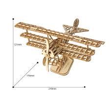 Amazoncom ROBOTIME Wood Craft Kits Unfinished BiPlane 3D Laser
