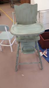 Old Wood Highchair Repainted Using Annie Sloan's