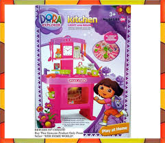 dora kitchen set toys with music and lights shoppers pakistan
