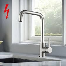 niederdruckarmatur küche bonade 360 drehbar niederdruck küchenarmatur aus sus304 edelstahl küche spültisch armatur wasserhahn küche spülbecken
