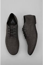 Feathers Canvas Stentorian Oxford Shoes In Dark Grey From Urban Outfitters