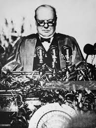 churchill s iron curtain speech pictures getty images