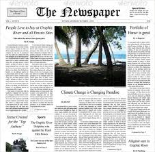 12 Newspaper Front Page Templates Free Sample Example Format