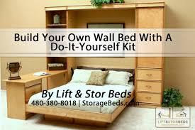 Queen Murphy Bed Kit by Build Your Own Wall Bed With A Do It Yourself Kit From Lift U0026 Stor