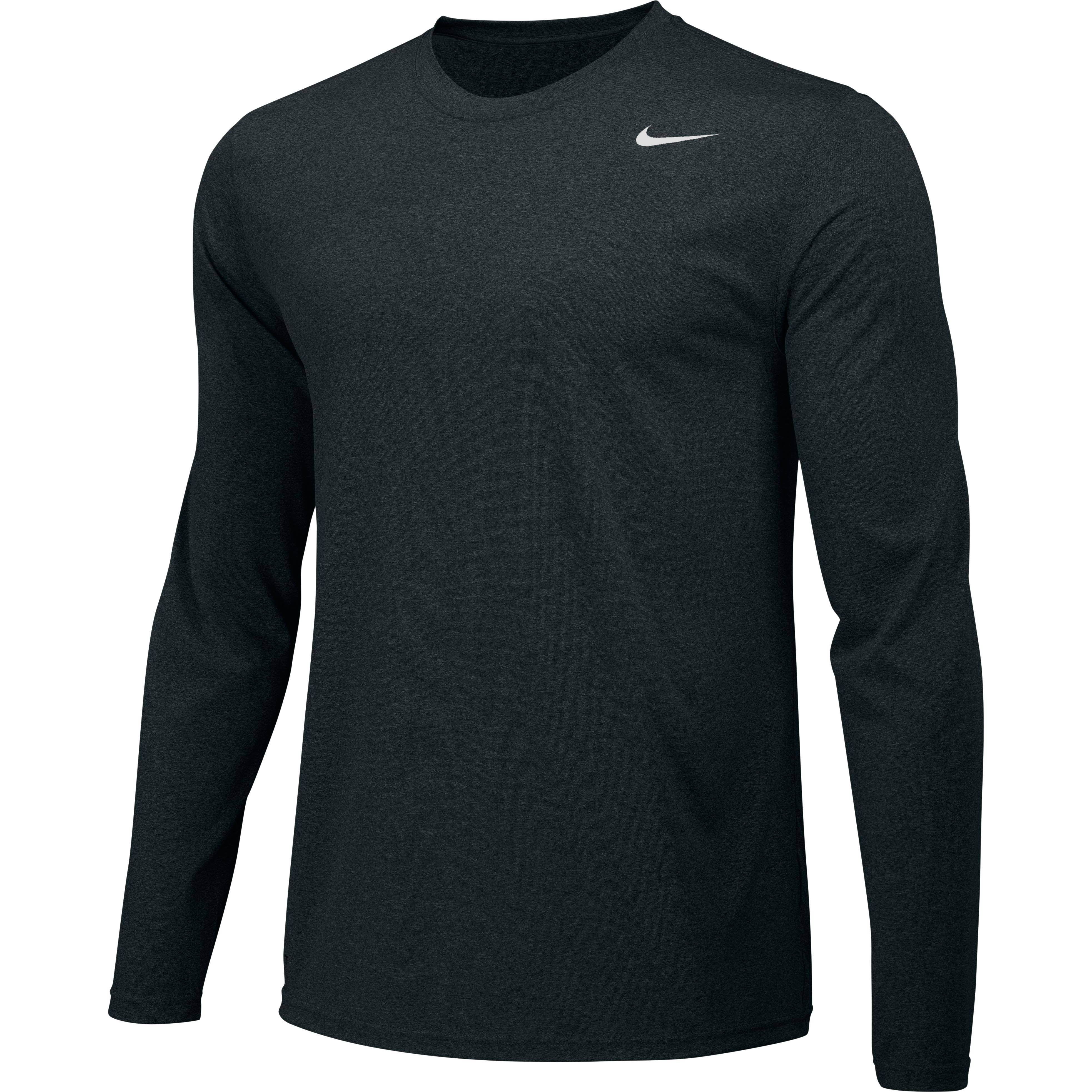 Nike Legend Long Sleeve Poly Top - Black - S