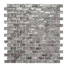 Jeffrey Court Mosaic Tile by Jeffrey Court Palazzo 11 7 8 In X 12 In X 8 Mm Glass And Metal