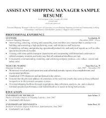 Sample Resume Warehouse Distribution With Operations Manager