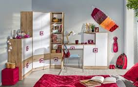 jugendzimmer set nico kleiderschrank schreibtisch eiche hell weiß pink
