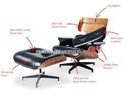 Platinum Eames Lounge Chair & Ottoman Replica - Furniture ...