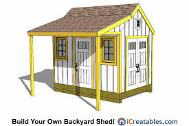 8x12 Storage Shed Kit by 8x12 Colonial Shed Plans With Porch 8x12 Shed Plans Pinterest
