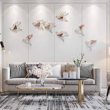 neue chinesische schmiedeeisen glas vogel wandbehänge hause wohnzimmer wand aufkleber dekoration hotel veranda eingang wandbild handwerk