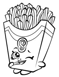 Click To See Printable Version Of Fiona Fries Shopkin Coloring Page