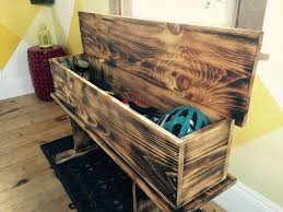 Bench Diy Storage Beauty Pine With Love Rustic How To Make Burnt Wood Bath Entry