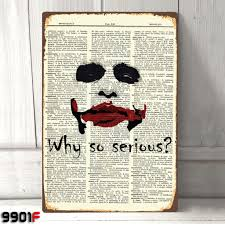 the joker why so serious vintage page metal tin sign wall décor house deco poster gifts