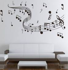 Beautiful Cool Wall Painting Designs Musical Note Painting