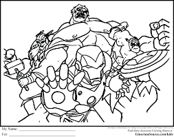 Coloring Page Avengers Printable Pages Kids Free Lego Marvel Superheroes Sheets Full Size