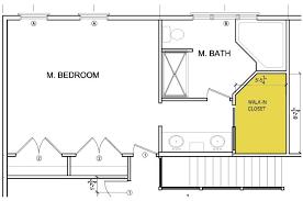master bathroom floor plans with walk in closet bitdigest design