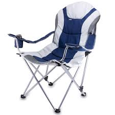 100 Folding Chair With Carrying Case Reclining Camp Navy Picnic Time 80300138 S