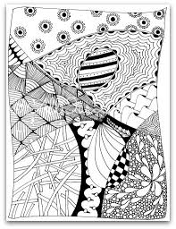 Printable Zendoodle Coloring Pages Free Of Zen
