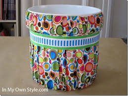Paint Bucket And Fabric Covered Waste Can