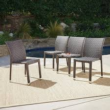 Dorside Outdoor Multibrown Wicker Armless Stacking Chairs With An Aluminum  Frame (Set Of 4) Gdf Studio Dorside Outdoor Wicker Armless Stack Chairs With Alinum Frame Dover Armed Stacking With Set Of 4 Palm Harbor Stackable White All Weather Patio Chair Bay Island Noble House Multibrown Ding 2pack Plowhearth Bistro Two 30 Arm Brown 51 Bfm Seating Ms11cbbbl Gray Rattan Inoutdoor Restaurant Of Red By Crosley Fniture
